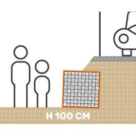 Mur de soutenement gabion talus avec surcharge hauteur 100 cm fil 4.5 mm qualité professionnel