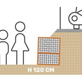 Mur de soutenement gabion talus avec surcharge hauteur 120 cm fil 4.5 mm qualité professionnel