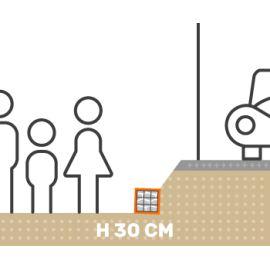 Mur de soutenement gabion talus avec surcharge hauteur 30 cm fil 4.5 mm qualité professionnel