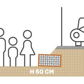 Mur de soutenement gabion talus avec surcharge hauteur 50 cm fil 4.5 mm qualité professionnel