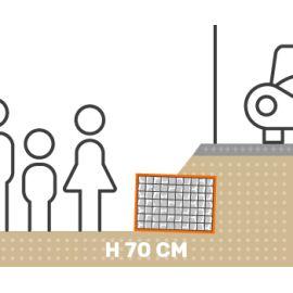 Mur de soutenement gabion talus avec surcharge hauteur 70 cm fil 4.5 mm qualité professionnel
