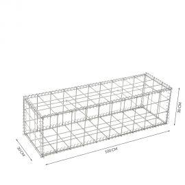 Gabion cage Longueur 100 cm x Epaisseur 30 cm x Hauteur 30 cm fil 4.5 mm qualité professionnel
