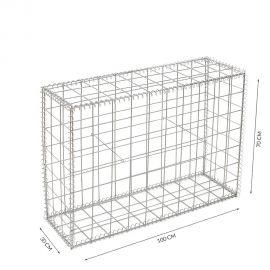 Gabion cage Longueur 100 cm x Epaisseur 30 cm x Hauteur 70 cm fil 4.5 mm qualité professionnel