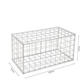 Gabion cage Longueur 100 cm x Epaisseur 50 cm x Hauteur 50 cm fil 4.5 mm qualité professionnel