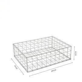 Gabion cage Longueur 100 cm x Epaisseur 70 cm x Hauteur 30cm fil 4.5 mm qualité professionnel