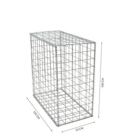 Gabion cage Longueur 50 cm x Epaisseur 100 cm x Hauteur 100cm fil 4.5 mm qualité professionnel