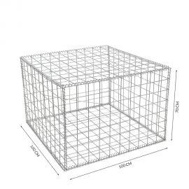 Gabion cage Longueur 100 cm x Epaisseur 100 cm x Hauteur 70 cm fil 4.5 mm qualité professionnel